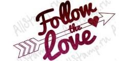 Штамп «Follow the love 45»